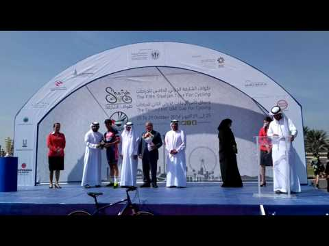 Stanislau Bazhkou (Minsk Cycling Club) awarded 3rd place overall at 2016 Sharjah Tour