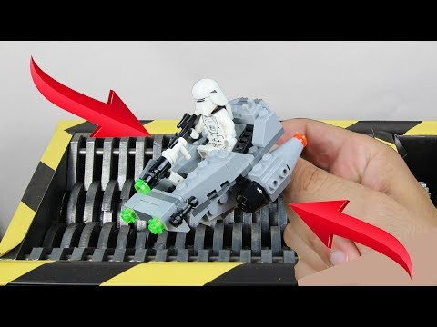 Experiment Shredding Lego And Toys | The Crusher
