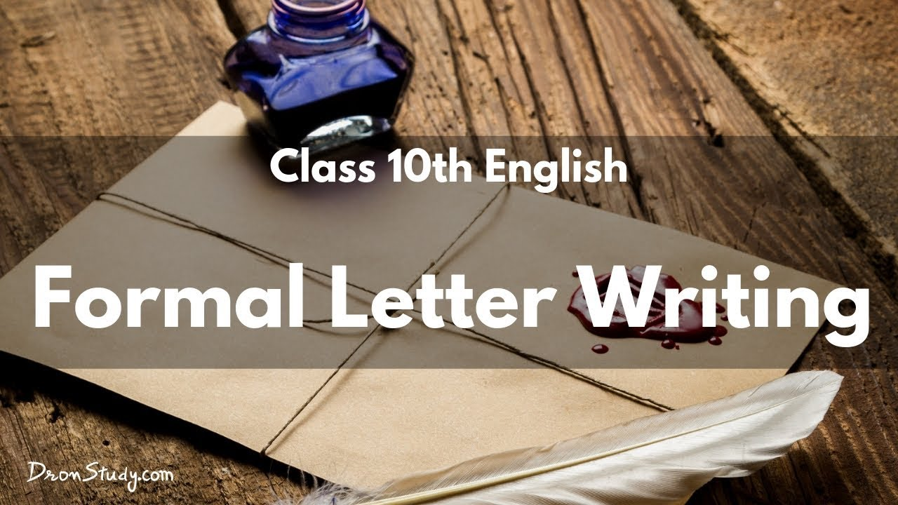 Formal Letter Writing Cbse Class 10 English Youtube