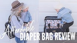 AFFORDABLE DIAPER BAG REVIEW  2018! /  Mommore / Daily Vlog