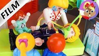 Playmobil Film polski | WYPADEK TATY W PRACY - w szpitalu z powodu zatrucia oparami | Wróblewscy