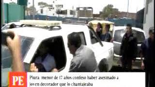 CANAL 4   CADETE DE CMPRG CONFESÓ ASESINATO DE DECORADOR