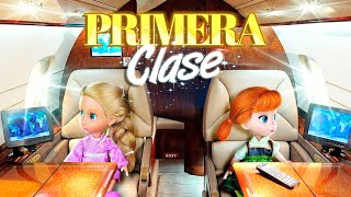 Las Junior Viajan en Avion Privado | Princesas de Disney
