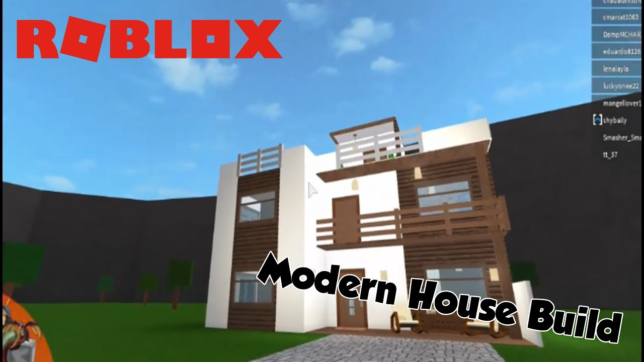 Roblox welcome to bloxburg 2 modern house timelapse for Modern house design bloxburg