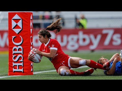 Seven INSANE tries from women's rugby in Langford!