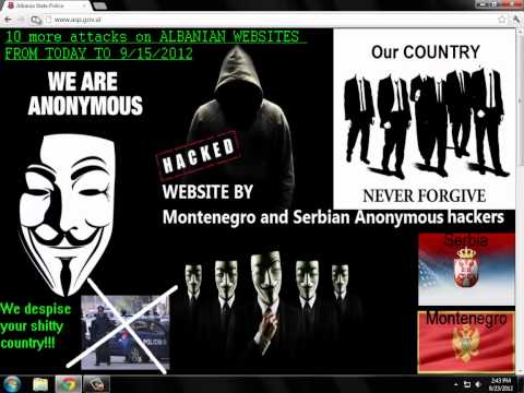 Hacked Albanian police Department website by Serbian&Montenegro hackers