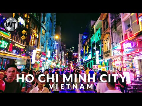 Ho Chi Minh City Nightlife Area, Clubs and Bars - 🇻🇳 Vietnam - 4K Walking Tour