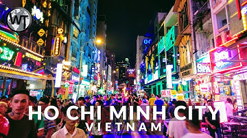 Ho Chi Minh City Nightlife Area, Clubs and Bars - 🇻🇳 Vietnam - 4K Virtual Tour