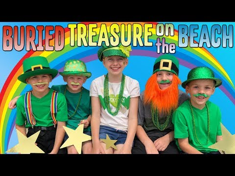 We Found a Pot of Gold on the Beach!! Family Fun Pack Skit
