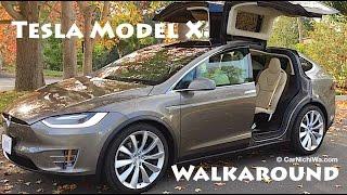 Tesla Model X | Owner's Review Part 2 | Walkaround | CarNichiWa.com