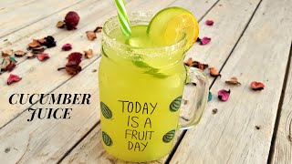 Cucumber Juice Recipe For Detox And Weight Loss Drink By Sweet N Salt