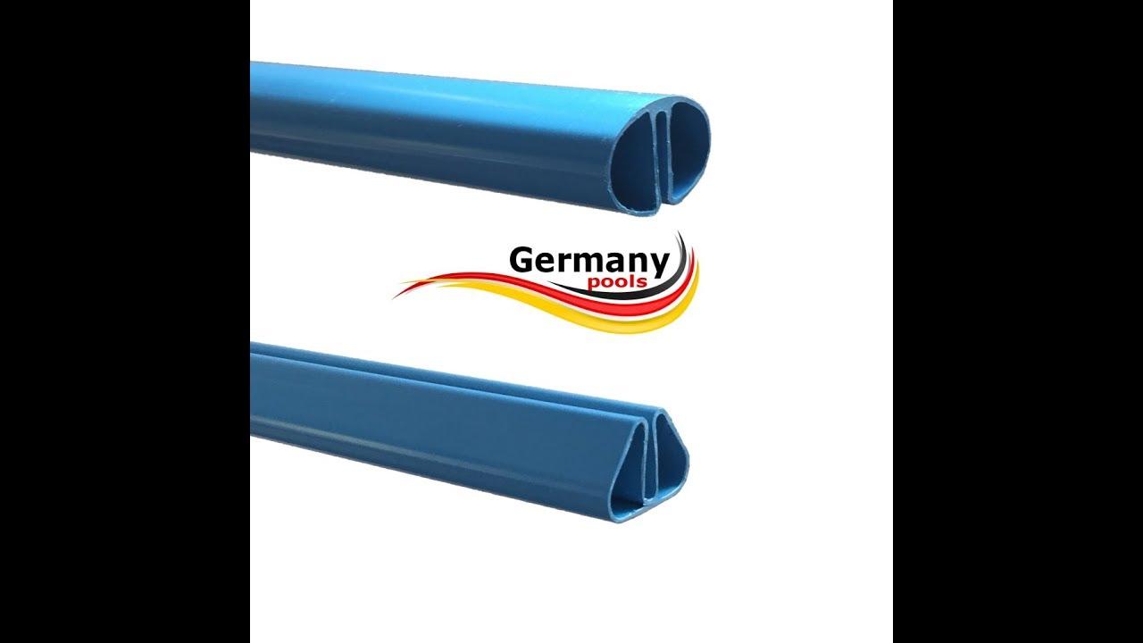 Pool-Handlauf Montage am Germany-Pools Stahlwandpool mit Pool.Net ...