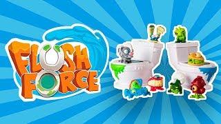 Обзор Flush Force - Монстры из унитаза | Игрушки Spin Master