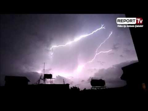 Thunderstorm/lightning in Tirana, Albania  in December 2014