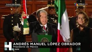 Así dio su primer grito de Independencia el presidente Andrés Manuel López Obrador