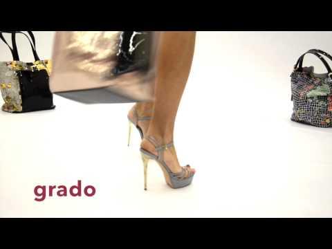 Босоножки на каблуке цветные grado.Коллекция обуви  лето 2014