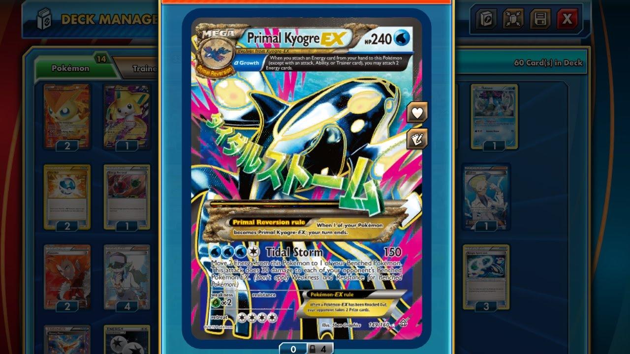 Primal Kyogre Card Pokémon Tcg Online  Primal Kyogre Ex  Youtube
