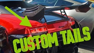 Custom LED Tail Lights - Lamborghini Gallardo