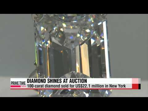 100-carat diamond auctioned off for US$22 mil.   100캐럿 `무결점` 다이아몬드, 소더비 경매서 238억
