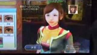 【PS3】白騎士物語 キャラメイキングで小倉優子を作ってみた