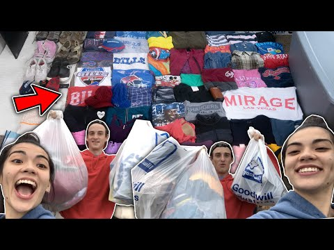 Our BIGGEST CLOTHING Haul yet from the Goodwill Outlet bins! | All this stuff for eBay resell!