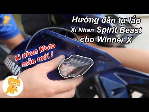 TỰ LẮP Xi Nhan Moto Spirit Beast CHÍNH HÃNG cho Honda Winner X - Xe Ôm Shop