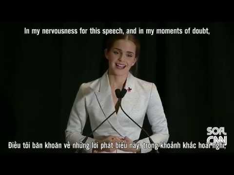 "[Vietsub/ Engsub] Emma Watson UN ""HeForShe"" Speech"