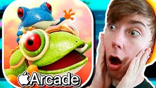 FROGGER IN TOY TOWN ( Apple Arcade Gameplay)