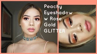 Peachy Eyeshadow with Glitter + $180 GIVEAWAY!!! | BeatsByLups