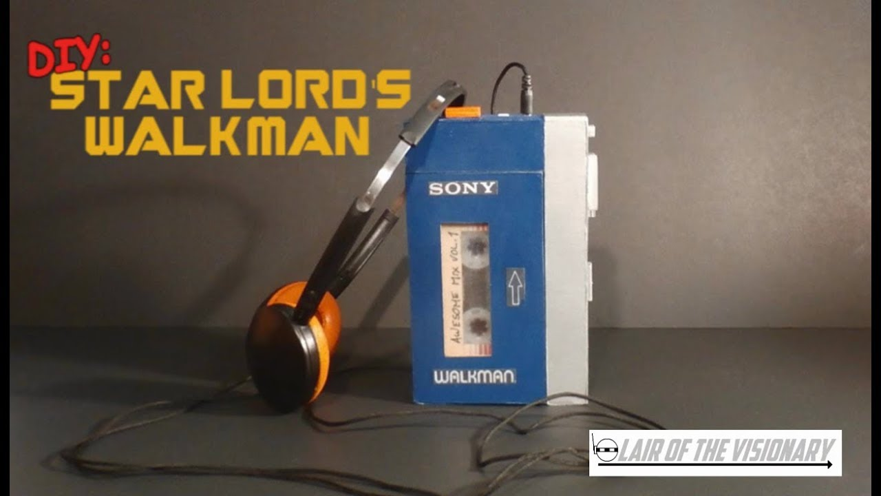 DIY Star Lord39s Walkman Actually Plays Music Lair Of The Visionary YouTube