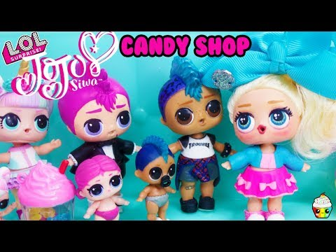 LOL Surprise Jojo Siwa Candy Shop Surprises LOL Dolls Go Shopping For Candy
