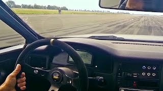 Audi 90 S2 Coupe R32 R30 Turbo Acceleration 0-312km/h(, 2016-07-23T09:28:50.000Z)