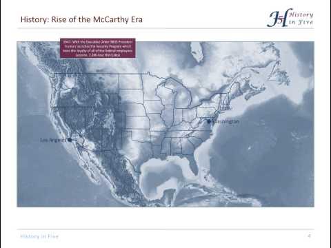 The McCarthy Era (1940s & 1950s)