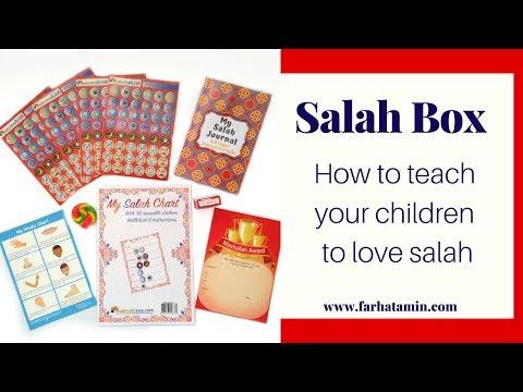 Salah Box, Muslim Gift, Salah Chart, Salat, Journal, Muslim Gift Box