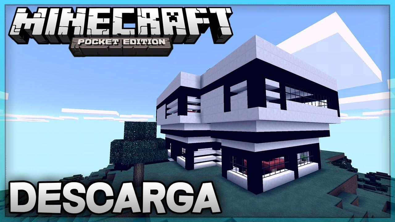 Descarga casa moderna para minecraft pe super for Casas modernas minecraft 0 8 1