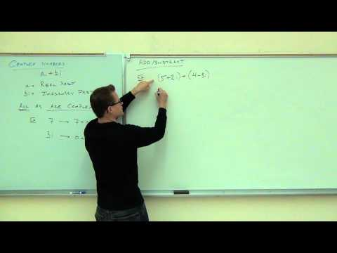 Intermediate Algebra Lecture 10.7:  An Introduction to Operations with Complex Numbers