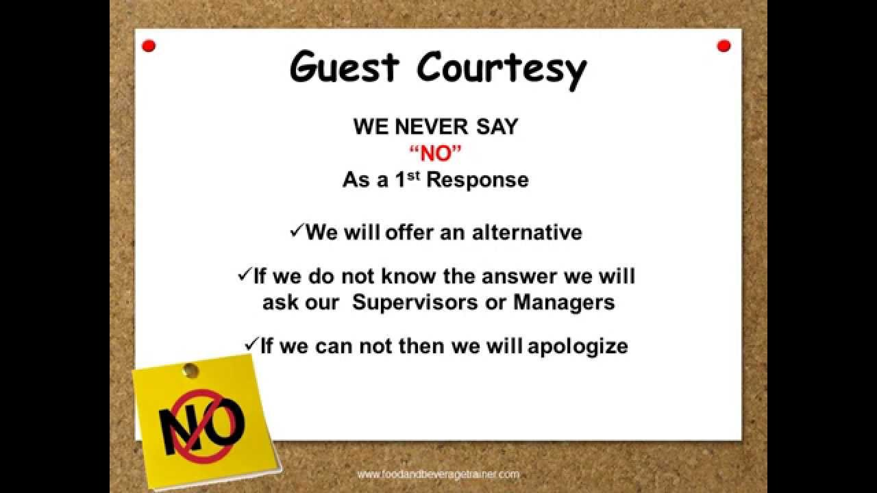 Customer Service 5 Star Service Standards Youtube