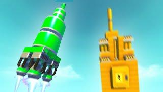 SPACE ROCKET BUILDING BATTLE! (Scrap Mechanic)