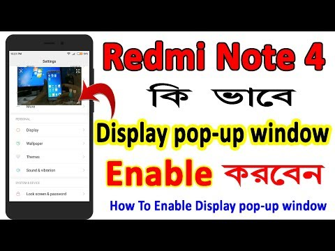 How to Enable Display pop up Window Redmi Note 4