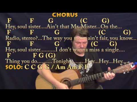 Hey Soul Sister (Train) Strum Guitar Cover Lesson in C with Chords/Lyrics