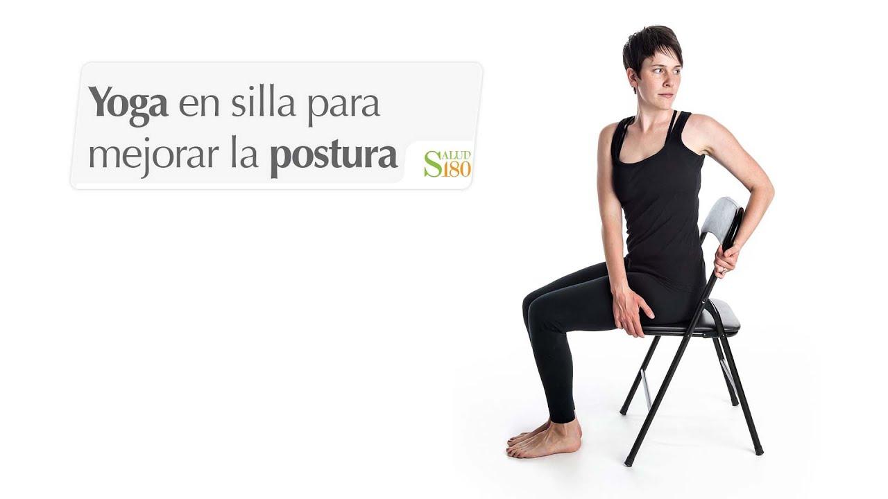 Yoga en silla para mejorar la postura de la columna for Sillas plegables para yoga