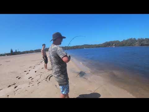 Sandon River Fishing Big Stingray!!!