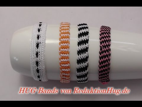 HUG-Bands Häkeln - Armband - Veronika Hug B - einfach - YouTube