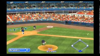MLB Power Pros (Wii) World Series Game #4 Red Sox @ Mets