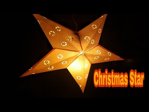How to make Christmas Star 🌟 with A4 size colouring paper easily at home....? DIY crafts...!!!