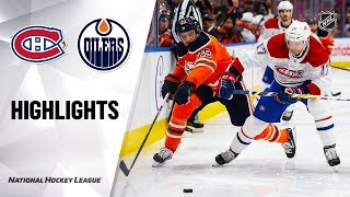 NHL Highlights | Canadiens @ Oilers 12/21/19