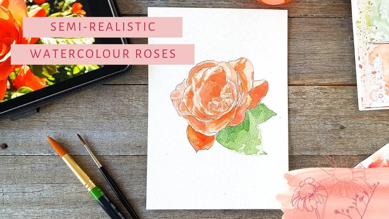 Semi-Realistic Watercolour Flower | Tutorial
