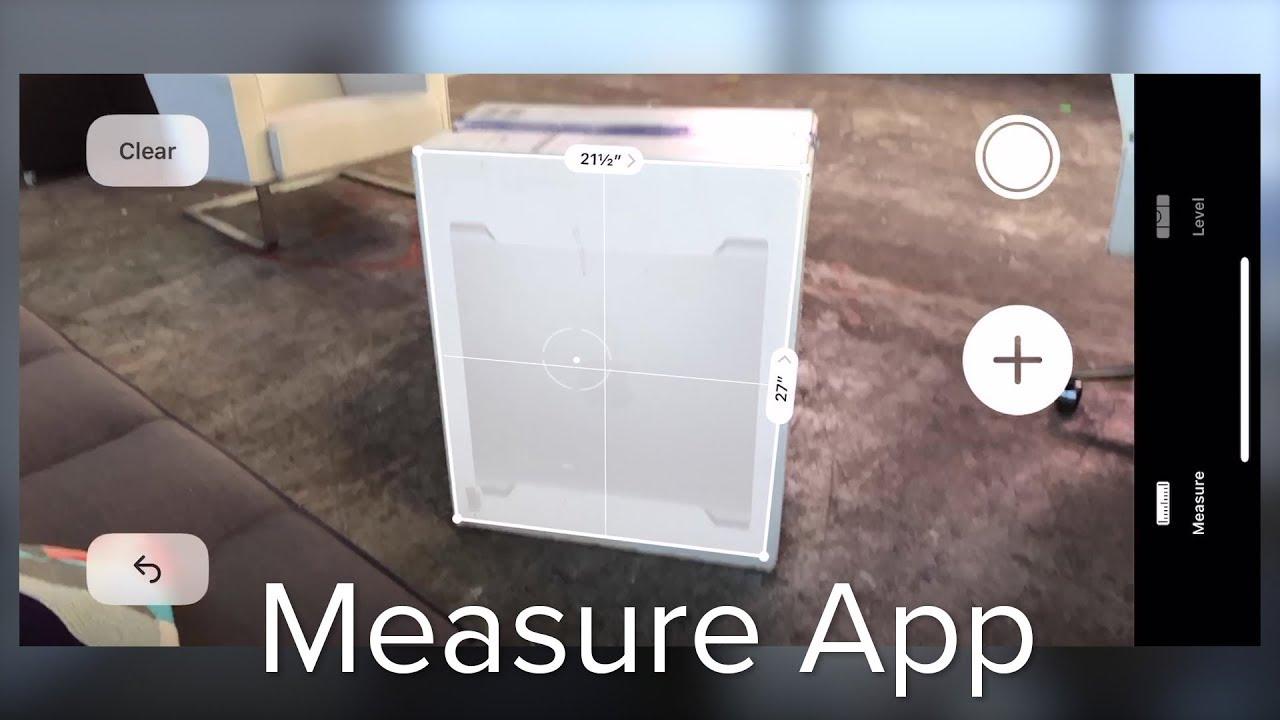 Using Apple's Measure App