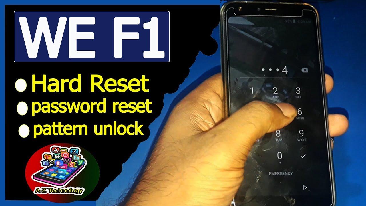WE F1 Hard Reset   password reset   factory reset   pattern unlock   YouTube