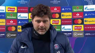 Mauricio Pochettino reacts to PSG's Champions League exit to Manchester City